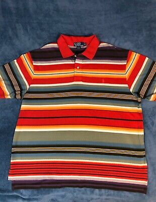 Polo Ralph Lauren Shirt Mexican/Serape Blanket Stripes Design Sz 2XB NWOT Polo