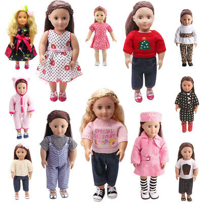 "Dolls Dress Clothes Outfits Pajamas Shoes for 18"" American Girl Madame Alexander"