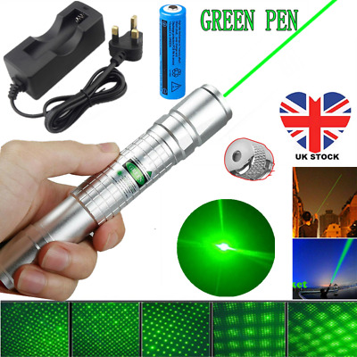 900miles Amazing Green Laser Pointer Pen Astronomy Star Beam Torch Light&Charger