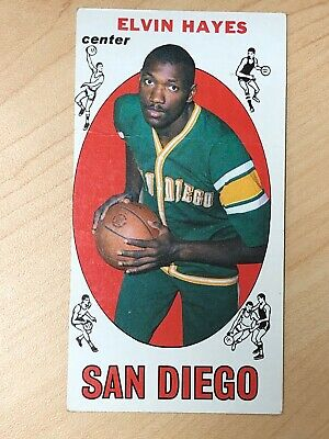 1969-70 Topps Basketball #75 - ELVIN HAYES - Rookie Card RC - HOFer 12X All Star
