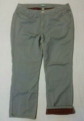 """Women's NATURAL REFLECTIONS 100% cotton FLANNEL LINED PANTS  size 18  29.5"""" ins"""