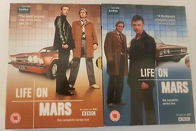 Life On Mars Complete Series 1 & 2  In 2 Box Sets  8 Discs Simm / Glennister