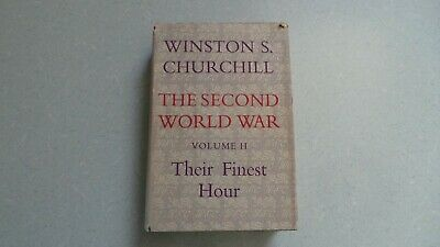 Winston Churchill Hardback Volume Ii Their Finest Hour  First Edition 1949