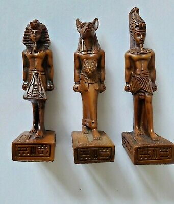 Ancient Egyptian Gods Figurine statue Sculpture - Set of 3
