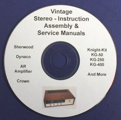 VINTAGE HIFI STEREO service CD Sherwood Crown Knight Dynaco Acoustic Research AU