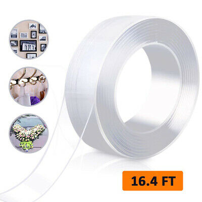 16.5ft Nano Magic Tape Double-Sided Traceless Washable Invisible Gel