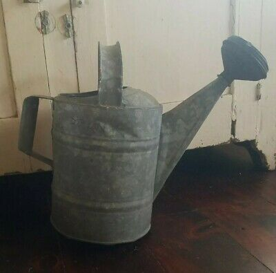 Vintage Galvanize Watering Can #8, Rustic Farmhouse Decor