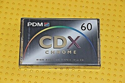 Pdm  Cdx Chrome 60   Blank Cassette Tape  (1)    (Sealed)