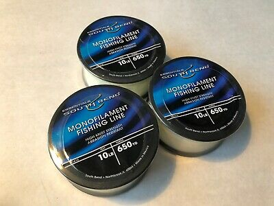South Bend Fishing Monofilament Line 100 Yards Small Diameter 12lb Test