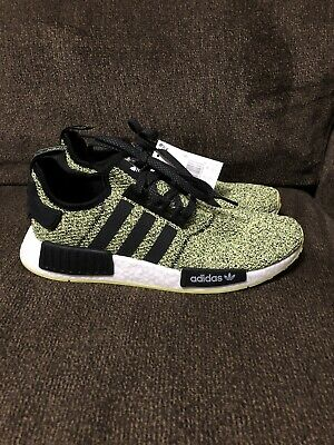 ADIDAS ORIGINALS NMD R1 Mens Size 10 Black Yellow White $160