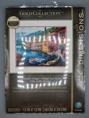 Lakeside Village D70-35285 Dimensions Counted Gold Cross Stitch Kit