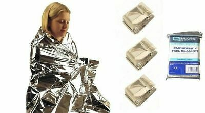 Emergency Blanket Thermal First Aid Survival Foil Waterproof Rescue 1//2//5//10PCS