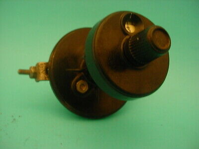 1 x VARIABLE TRIMMER CAPACITOR & DIAL * 3.7 - 36 pF * 1920s TESTED