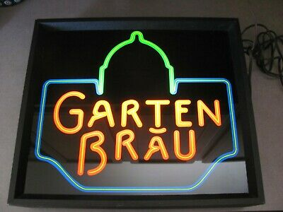 Capital Garten Bräu Brewery Light-up Vintage Plastic Beer Sign Man Cave Bar