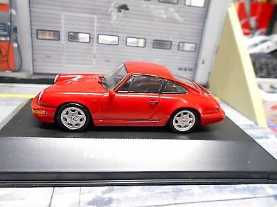 PORSCHE 911 964 Carrera 4 Coupe 1991 red rot Atlas by Spark  1:43