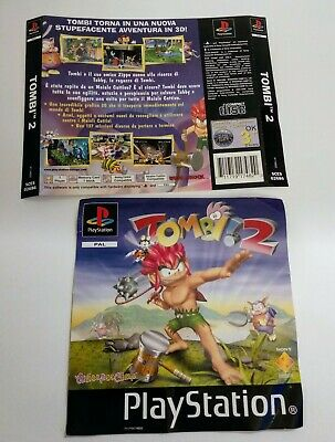 Cover frontale e cover posteriore TOMBI 2  ITA Playstation
