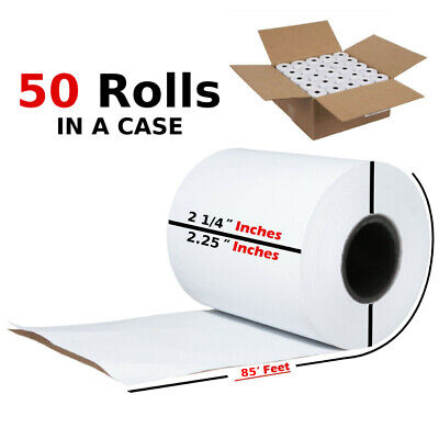 2 1/4 in x 85 FT Thermal Paper Receipt POS Cash Register Print Papers 50 Rolls