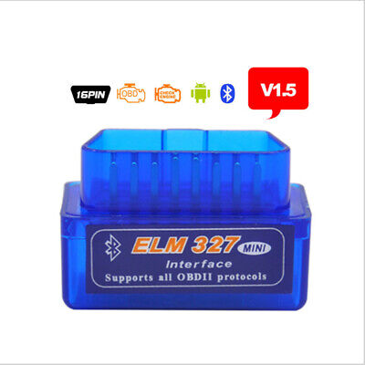 Elm 327 Mini Bluetooth Obd2 Odb2 Interface Diagnostic Scan For Pc Android New