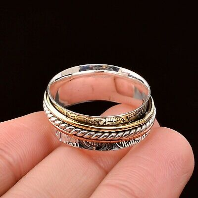 Spinner Ring 925 Sterling Silver Women Handmade Ring Statement Jewelry 051
