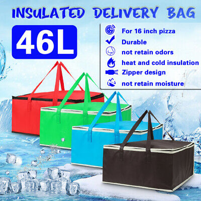 16 in insulated Hot food delivery bag pizza delivery box backpack deliveroo bag