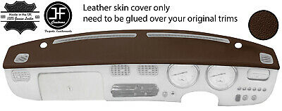 Brown Top Grain Real Leather Top Dash Dashboard Cover Fits Nissan Figaro