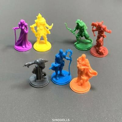 Lot of 7 Mini figures Zombicide For D&D Cthulhu Wars Miniatures Game Figure Toys