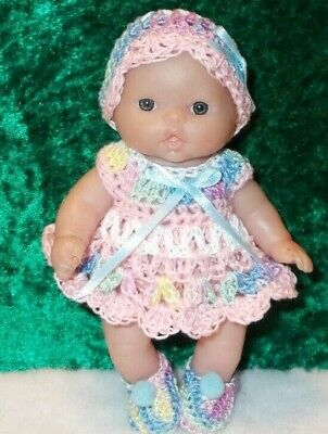 pastels Hand crocheted Mattel Kelly Doll Clothes