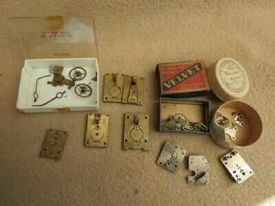 Collection Of Vintage And Antique Clock Platform Escapement Parts For Spares