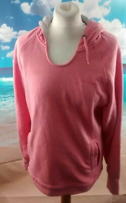 "LA GEAR pink hoodie with grey Hoodie. 20"" pit-to-pit, 27"" length, Size 16"