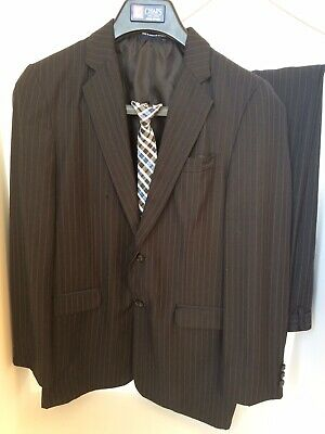 NEW Kids Boys Baby Formal Suit Wedding Outfit Jacket ONLYsz000–6 Black PINSTRIPE