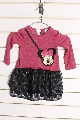 Minnie Mouse Disney Girls Kids Youths Dress - Pink - Size Age 2-3 Years (bb4)