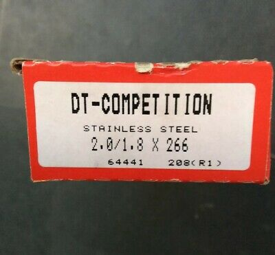 DT Swiss Competition 294 mm SS Spokes 1.8//1.6 /& Alloy Nippl Qty18  s64