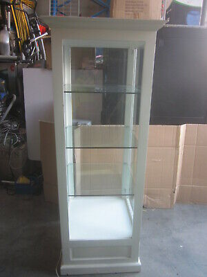 Timber & Glass Display Cabinet. Show Case With Glass Shelves