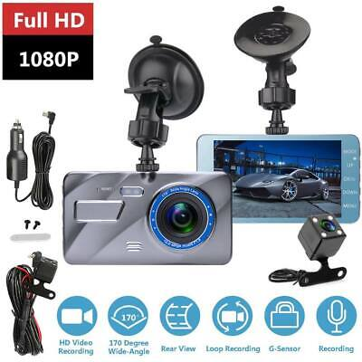 "4"" Car DVR 32GB 1080P Dash Cam Dual Lens Front and Rear Camera Video Recorder"