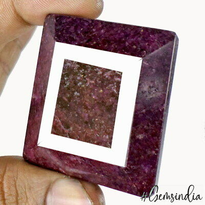 650 Ct Natural Red Ruby Octagon Faceted Cut Earth mined Gemstone From Madagascar