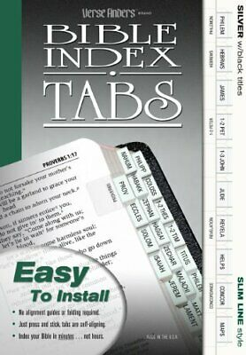 Versefinders Bible Index Tabs - Silver, Vertical