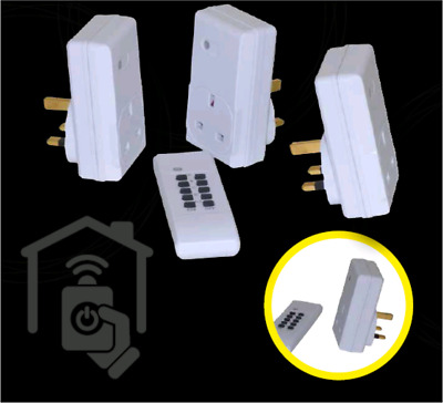 Remote Control Socket Wireless Switch Home Mains UK plug 2 pack 20m Clear Range