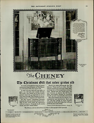 1924 Cheney Master Phonograph The Abbotsford $300 Vintage Print Ad 3966