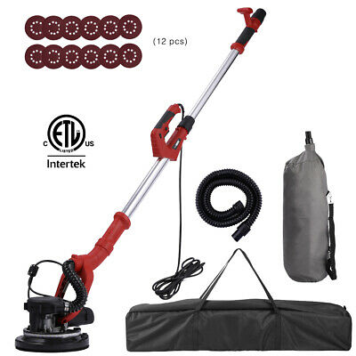 VIVOHOME 750W Electric Commercial 7-Speed Drywall Sander w/ Vacuum Sanding Pads