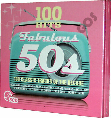 Fabulous 50s 5 CD Set 100 Hit Tracks Collection Of 1950s Jukebox Music Songs New