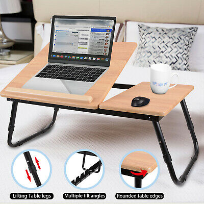 Laptop Stand Table Folding Desk Bed Computer Study Adjustable Portable Sofa Tray
