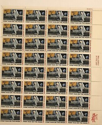 First Man On The Moon ** 1969 APOLLO 11 ** FULL SHEET * US POSTAGE STAMP MINT