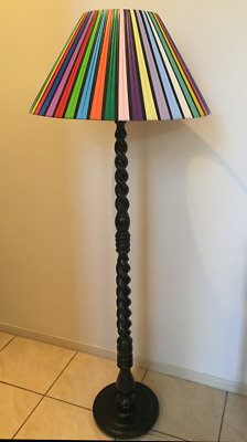 Barsony Vintage Standard Lamp Harlequin Plastic Ribbon Lampshade - Shade Only