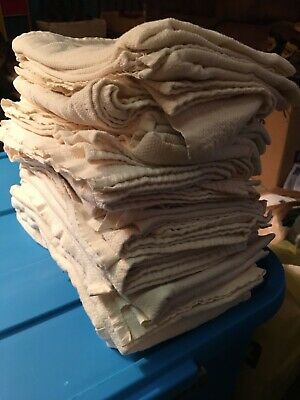 Unbleached Muslin Flat Diapers/burp Clothes