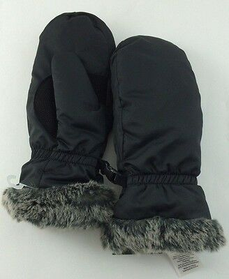 Eddie Bauer Down Essential Womens Mittens GLOVES Black S SMALL