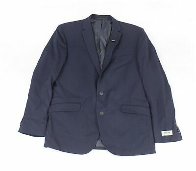 Kenneth Cole Mens Blazer Blue Size 42 Two-Button Notched Collar $275 #264