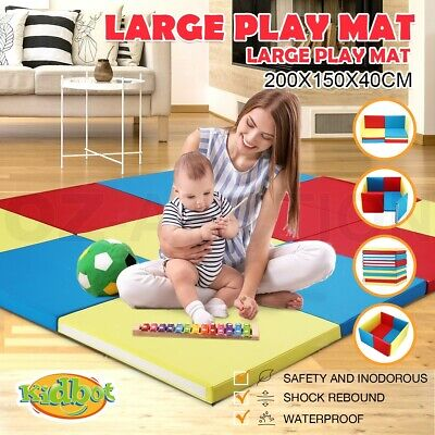 Kidbot New Baby Foam Play Mat Playpen Folding Sofa with Thick Padding Colourful