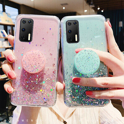 Starry Glitter Bling Case & Popup Holder For Samsung Galaxy S20/S20Plus/S20Ultra