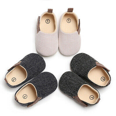Toddler Infant Baby Kids Denim Canvas Shoes Sneaker Soft Sole Anti-slip For 0-1Y