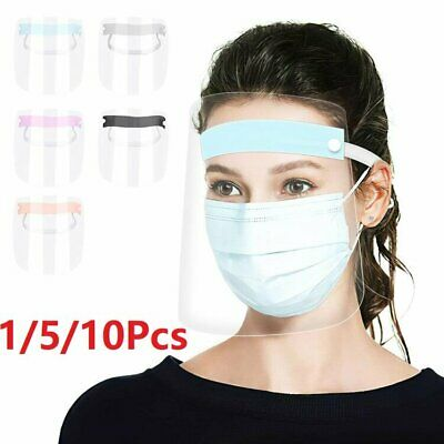 1/5/10PCS Full Face Shield Mask Clear Flip Up Visor Protection Safety Work Guard